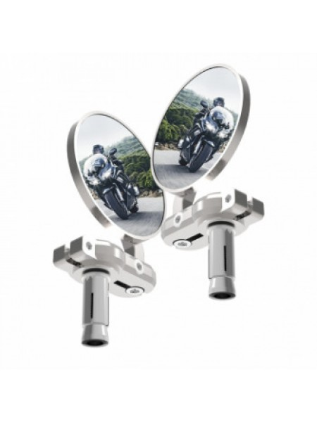 Мотозеркало Oxford BarEnd Mirrors Silver Set