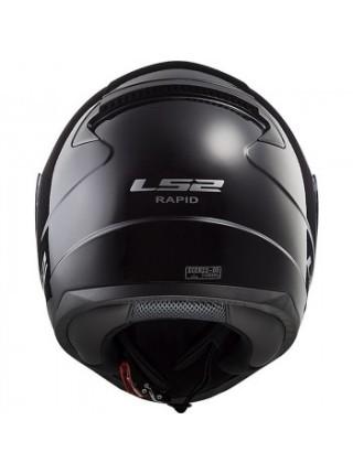 Мотошлем LS2 FF353 Rapid Single Mono Gloss Black