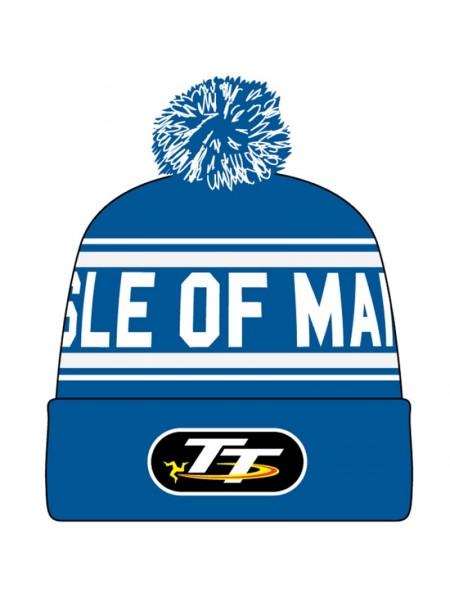 Шапка Isle of Man Blue TT Bobble Hat