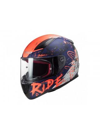 Мотошлем LS2 FF353 Rapid Naughty Matt Blue-Orange L