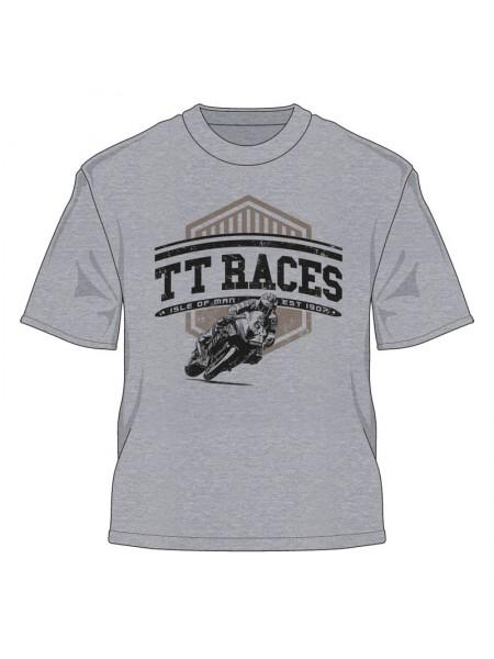 Футболка Isle of Man TT Races est 1907 Retro T-Shirt Grey