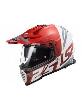 Мотошлем LS2 MX436 Pioneer EVO Evolve Red-White S