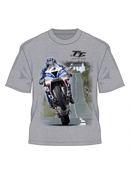 Футболка Isle of Man TT 2016 Guy Martin Closer to the Edge T- Shirt Grey