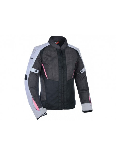 Мотокуртка Oxford Iota 1.0 WS Air Black-Grey-Pink 10