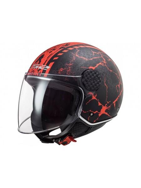 Мотошлем LS2 OF558 Sphere Lux Snake Matt Black-Red M