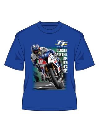 Футболка Isle of Man TT 2016 Guy Martin Closer to the Edge T- Shirt Royal Blue